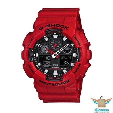 Reloj G-Shock militar rojo serie GA-100B-4A