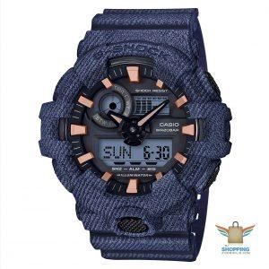 Reloj Gshock azul con dorado GA-700DE 2A