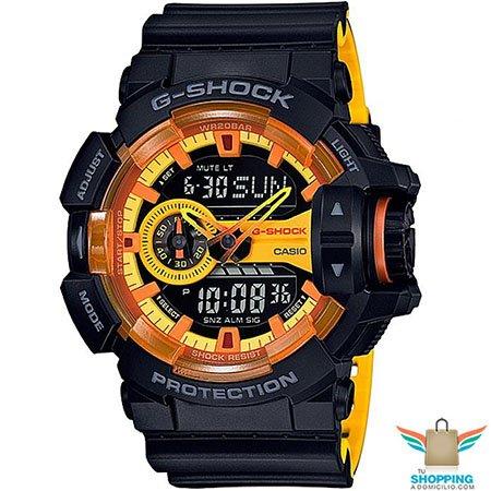 5bbab3ec9fb5c Reloj G shock negro y caratula naranja GA 400BY 1A en Tu Shopping