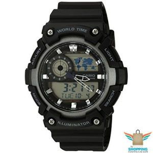 Reloj Casio Análogo y Digital AEQ-200W-1AV Negro