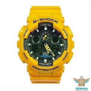 Reloj G-shock Amarillo y negro GA 100A 9A