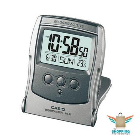Reloj de mesa casio digital pq 65 8 tu shopping a domicilio for Reloj digital de mesa