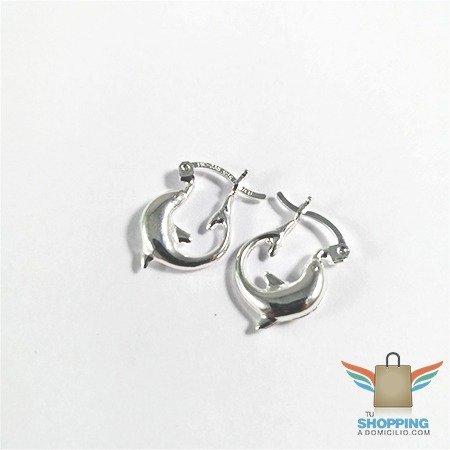 0e587638bee0 Argollas pequeñas con diseño de delfín plata 925 tu shopping a domicilio