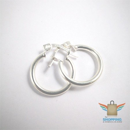 204c2d62c457 Argollas lisas pequeñas de plata 925
